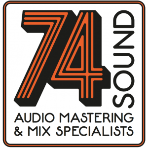 LOgo of 74 sounds studio