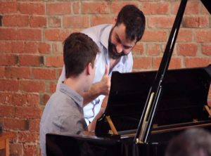 Student in derby piano concert