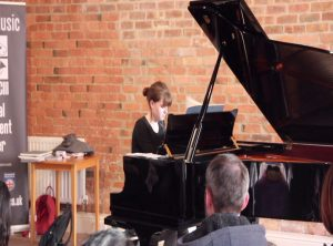 Student playing concert student